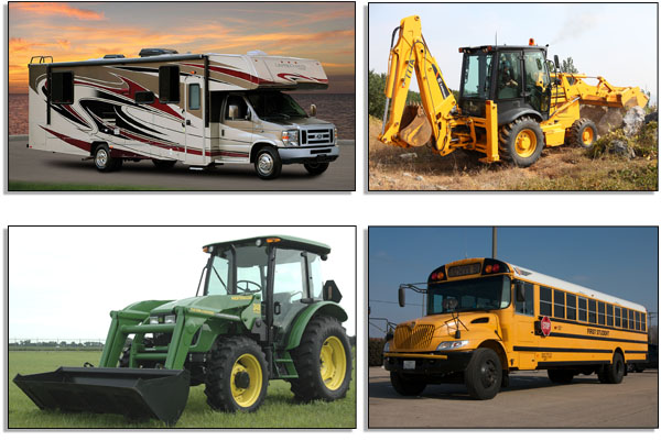 Glass For Motorhomes, Farm Equipment, Construction Equipment, Buses & More